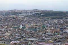 Fez skyline in the evening, Morocco, 2017 stock images