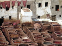 Fez tanneries, Morocco Stock Image