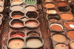 Fez Tannery Royalty Free Stock Image