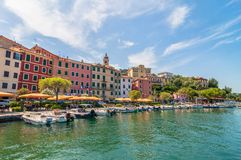 Fezzano small town and harbor near Portovenere, Liguria, Italy Stock Photography