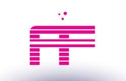 ff f f pink purple line stripe alphabet letter logo vector templ Royalty Free Stock Images