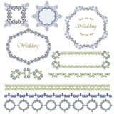 Ffames and patterns. For card Royalty Free Stock Images