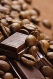 Ffee e chocolate do ¾ de ÑÐ imagens de stock