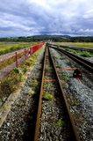 Ffestiniog track across the causeway Royalty Free Stock Photography