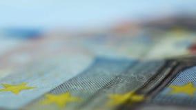 Ffifty euro nota's stock video