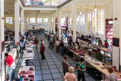 Ffish market famous Mercado dos Lavradores of Funchal, Madeira Stock Image