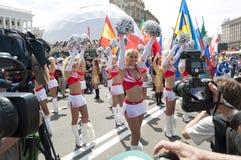 Öffnen in Kyiv Gebläse-Zone EURO 2012 Stockbilder