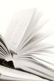 Öffnen Sie Bücher und Feder Stockbild