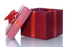 Öffnen Sie Geschenkbox Stockbild
