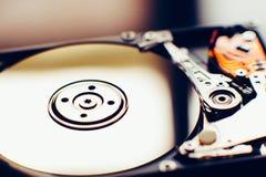 Öffnen Sie hdd (stark, Scheibe) vom Computer Stockbild