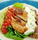 Öffnen Sie Huhn-Tortilla Lizenzfreie Stockbilder