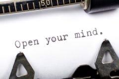 Öffnen Sie Ihren Verstand Stockbild