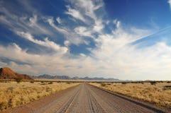 Öffnen Sie weit Wüstenstraße Stockfoto