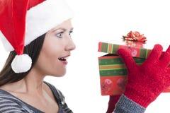 Öffnendes Geschenk Stockfotos