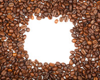 Fframe of coffee beans for the photos Royalty Free Stock Images