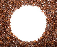 Fframe of coffee beans for the photos Royalty Free Stock Image