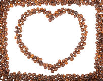 Fframe of coffee beans for the photos Stock Images