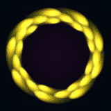 Fframe mágico de las briznas brillantes del fuego ilustración del vector
