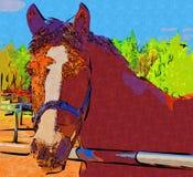 Freehand horse head art design illustration abstract drawing. Ffreehand horse head art design design illustration good for any design. A very funny illustration Stock Image