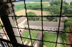 ffrom der Glockenturm der Abtei Pomposa Italien Lizenzfreie Stockfotos