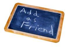 Fügen Sie als Freund hinzu Stockbild