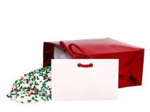 Fügen Sie Text (Geschenk-Karte u. Plätzchen) auf Weiß hinzu Lizenzfreies Stockbild