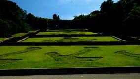 FGenova, Italia - 21 maggio 2017: Scala delle tre caravelle, un giardino più basso di tre caravelle di Christopher Columbus archivi video