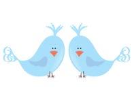 fåglar älskar två Arkivbilder