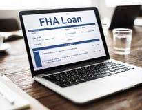 FHA贷款借户文件查询表概念 库存图片