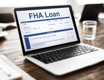 FHA Loan Borrower Document Questionnaire Concept Stock Image