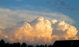 Fhoto sky with clouds Stock Photography
