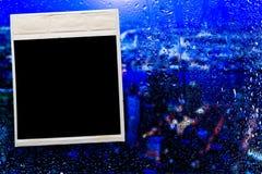 Fhotoframe op het glas Royalty-vrije Stock Foto's