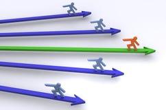 Führung im Geschäft Lizenzfreie Stockfotos