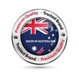 Fièrement fait dans l'Australie, marque de confiance illustration stock