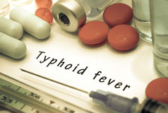 Fièvre typhoïde Image stock