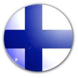 Fińska flaga Zdjęcia Royalty Free