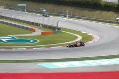 Kimi Raikkonen wchodzić do zwrot (1) przy malezyjczyka F1 GP Zdjęcie Royalty Free
