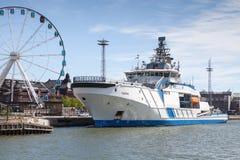 Fiński na morzu patrolowy statek Turva cumował w porcie Zdjęcie Stock