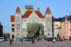 Fiński teatr narodowy zdjęcia royalty free