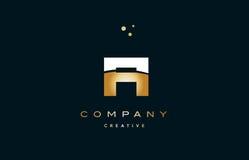 Fi f i  white yellow gold golden luxury alphabet letter logo ico Royalty Free Stock Photography