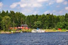 Fińscy Jeziora Fotografia Royalty Free