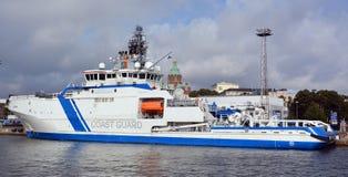 Fiński na morzu patrolowy statek Obrazy Stock