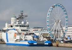 Fiński na morzu patrolowy statek Obraz Royalty Free