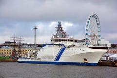 Fiński na morzu patrolowy statek Zdjęcia Royalty Free