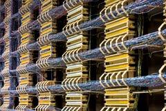 Fiação do telefone Imagem de Stock