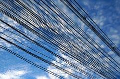 Fiação elétrica da rua Fotografia de Stock