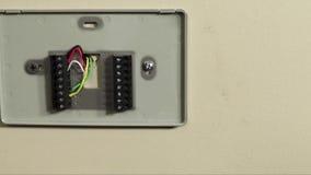 Fiação lenta da bandeja ou do termostato video estoque