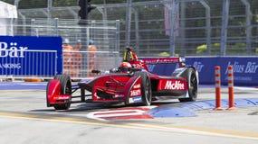 FIA惯例E raceday布城,马来西亚 免版税图库摄影