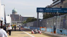 FIA惯例E raceday布城,马来西亚 库存照片