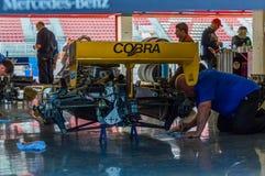 FIA управляет историческим чемпионатом Формула-1 в цепи de Барселоне, Каталонии, Испании Стоковое Изображение RF